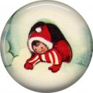 Mid Century Retro Christmas Image on a 1 inch Button Badge Pin - 3102