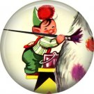 Mid Century Retro Christmas Image on a 1 inch Button Badge Pin - 3103