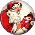 Mid Century Retro Christmas Image on a 1 inch Button Badge Pin - 3105