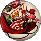 Mid Century Retro Christmas Image on a 1 inch Button Badge Pin - 3107