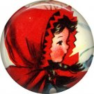 Mid Century Retro Christmas Image on a 1 inch Button Badge Pin - 3111
