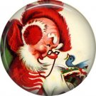 Mid Century Retro Christmas Image on a 1 inch Button Badge Pin - 3112