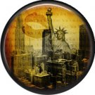 I Love New York Vintage Image on a 1 inch Button Badge Pin - 6297