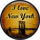 I Love New York Vintage Image on a 1 inch Button Badge Pin - 6305