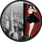 I Love New York Vintage Image on a 1 inch Button Badge Pin - 6314
