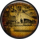 I Love New York Vintage Image on a 1 inch Button Badge Pin - 6315
