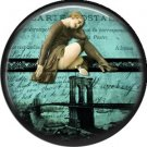 I Love New York Vintage Image on a 1 inch Button Badge Pin - 6316