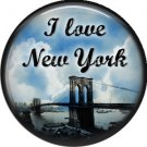 I Love New York Vintage Image on a 1 inch Button Badge Pin - 6317