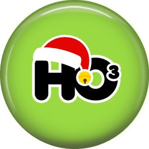 Ho 3, 1 Inch Be Merry Pinback Button Badge Pin - 3045