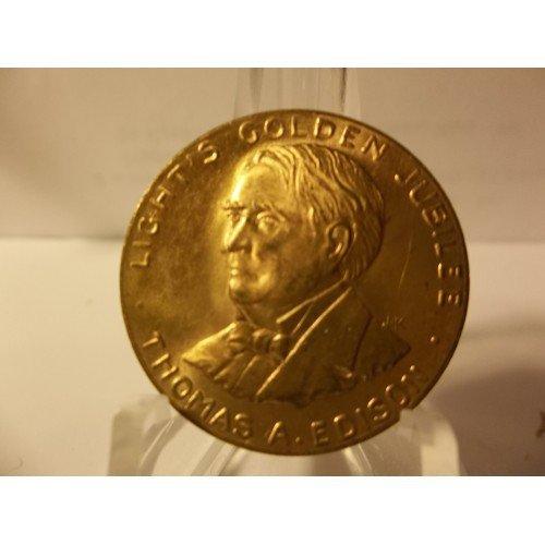"""1879-1929 Thomas Edison """"Light's Golden Jubilee"""" Token."""