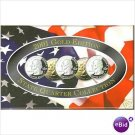 2001-D Gem BU 5 coin GOLD EDITION Mint Set