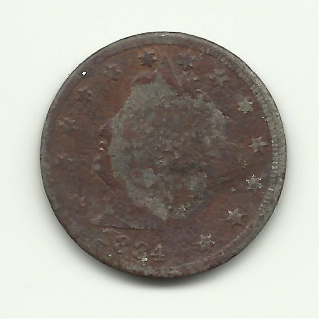 1884 #1 Liberty Head V Nickel.