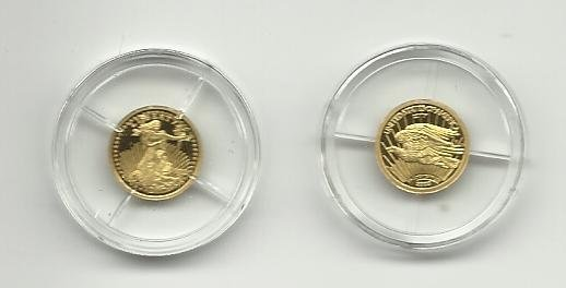 2003 7.7161 Gr. Solid Gold Proof of the 1933 Double Eagle Bullion.