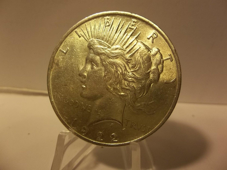 1922 #12 90% Silver Peace Dollar.