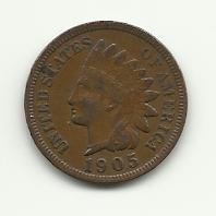 1905 #1 FULL LIBERTY Indian Head Cent.