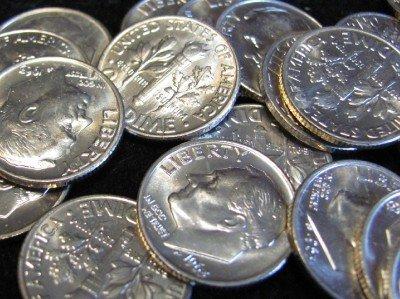 1963-D Gem BU Silver Roosevelt Dimes