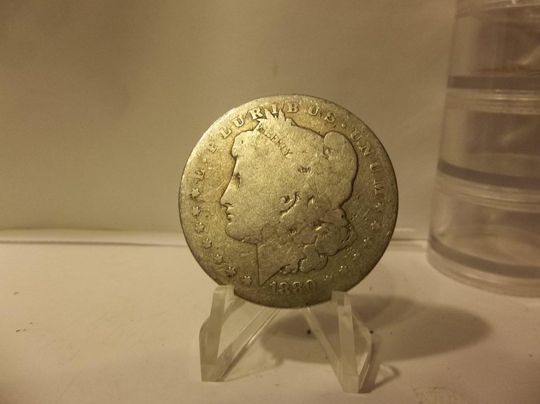 1880-O #1 90% Silver Morgan Dollar.