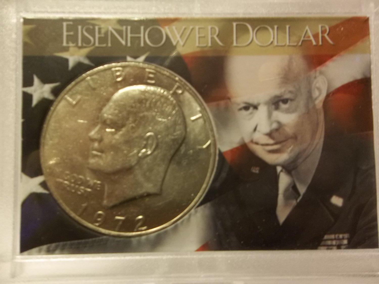 BU 1972 Type I Ike Dollar in Special Presentation Case.