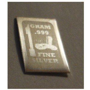 Snake Zodiac .999 Fine 1 gram solid Silver Bullion bar.