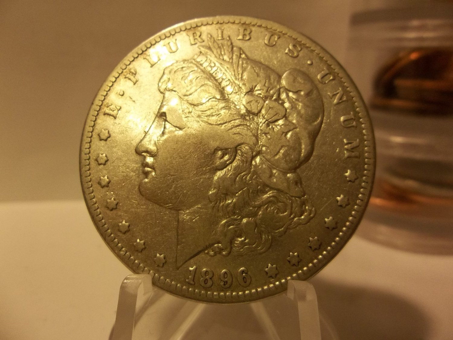 1896-S #2 90% Silver Morgan Dollar.