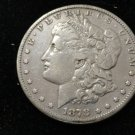 1878 #4 7 Feather Second Reverse 90% Silver Morgan Dollar.