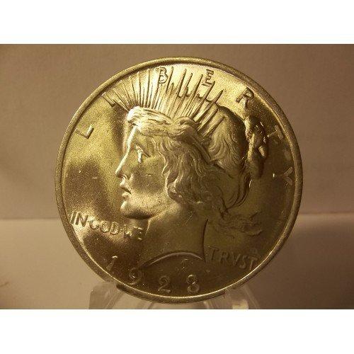 1923 #7 BU MS-64/65 Peace 90% Silver Dollar.