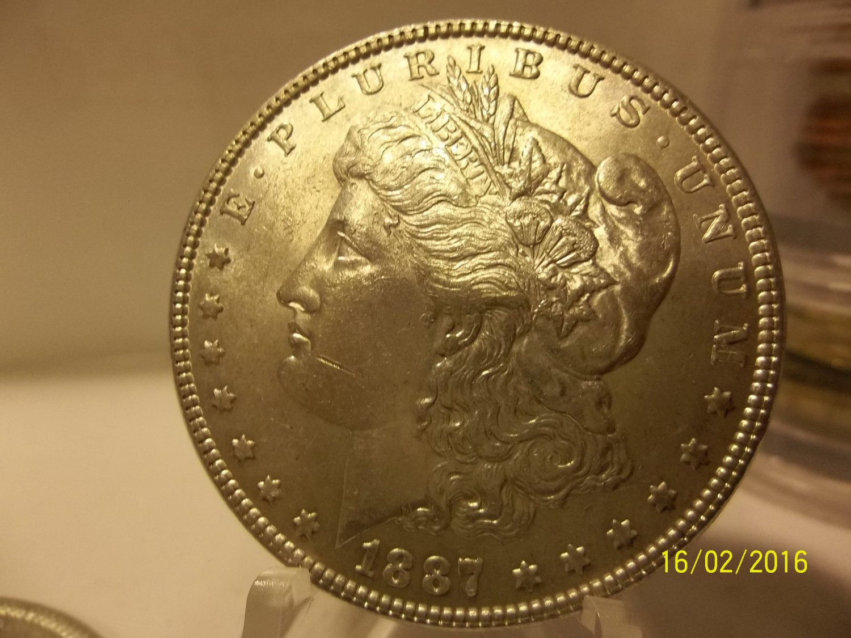 1887 #2  90% Silver Morgan Dollar.