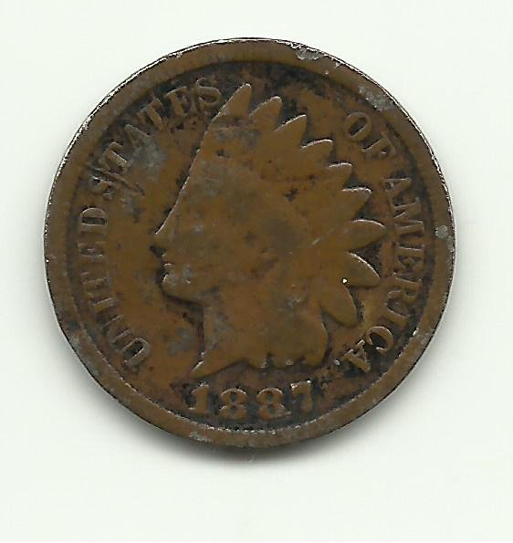 1887 #1 Indian Head Cent.
