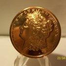 2012 - 1oz Copper Morgan Design Coin.