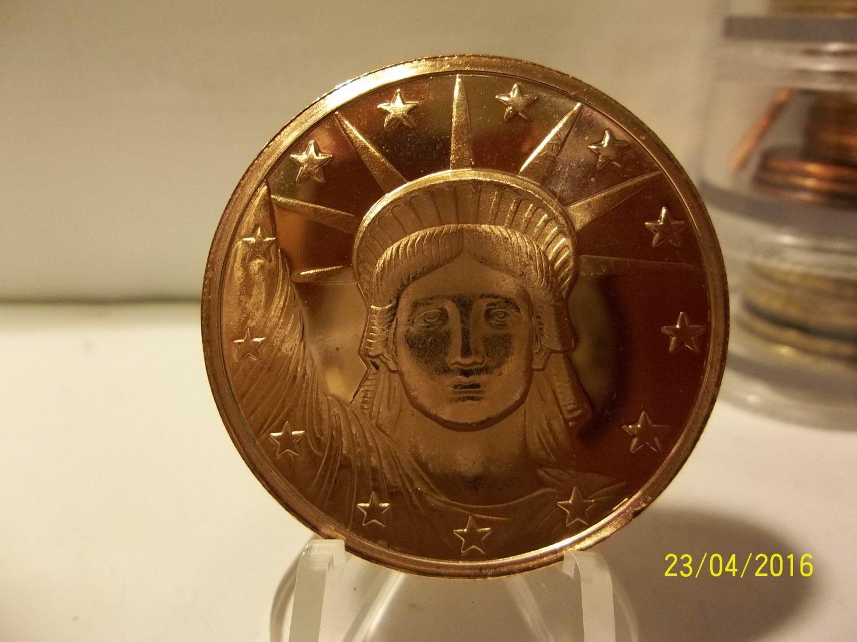 2012 - 1oz Copper Statue of Liberty Design Coin.