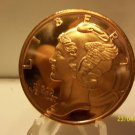 2012 - 1oz Copper Mercury Dime Design Coin.