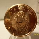 2010 Unc. One Oz. .999 Copper Lakota Coin.