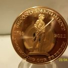 "2011 - 1 Oz. .999 Fine Copper ""Second Amendment"" Coin."