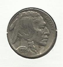 1935 #20 Buffalo Nickel  .
