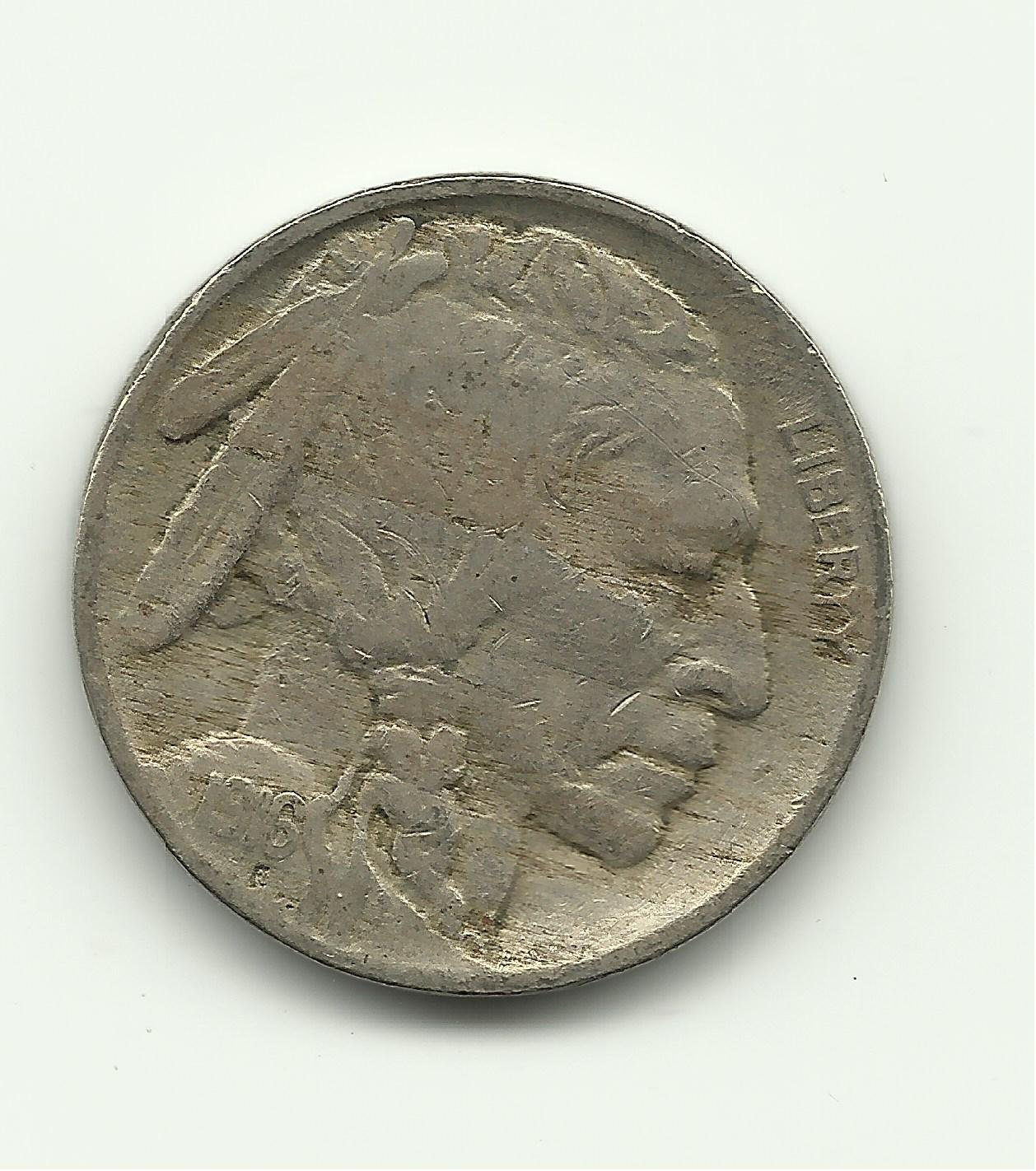 1916 #2 Buffalo Nickel.