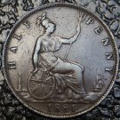 1884 GREAT BRITAIN - HALF PENNY - Victoria
