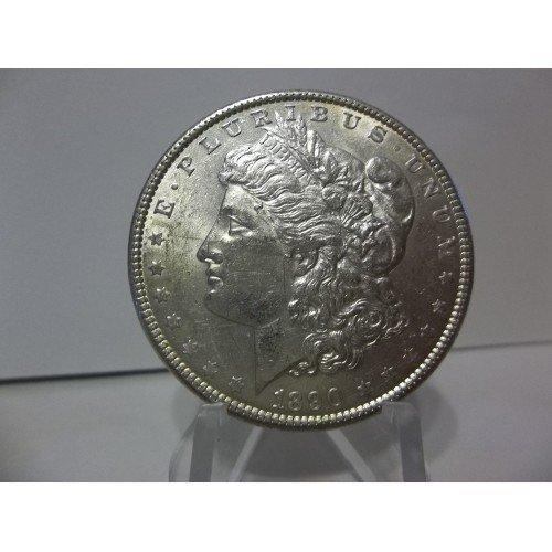 1890 #1 UNC 90% Silver Morgan Dollar.