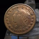 1837 Not One Cent Hard Times Coin Liberty