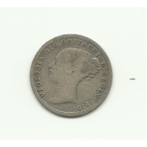 1874 3 Pence UK Silver Collection