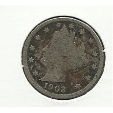 "1903 #8 Liberty ""V"" Nickel,"