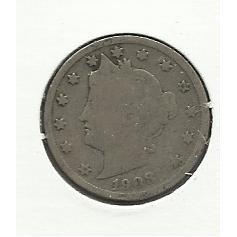 "1903 #9 Liberty ""V"" Nickel,"