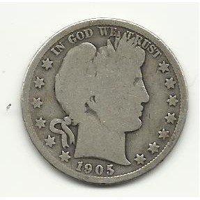 1905-S #1 Barber Half Dollar.