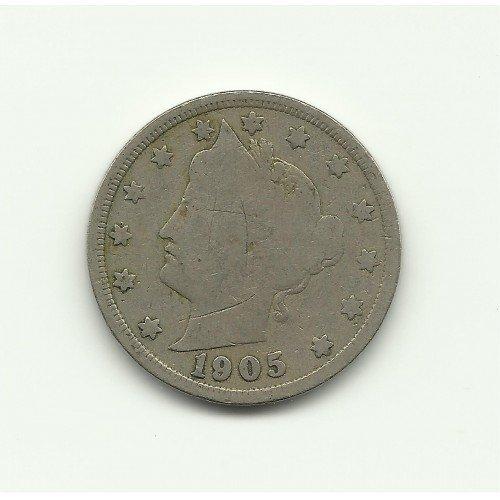 1905 #1 Liberty V Nickel.