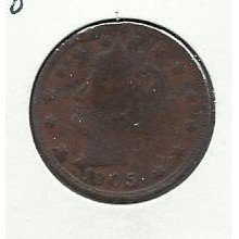 "1905 #8 Liberty ""V"" Nickel,"