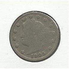 "1905 #11 Liberty ""V"" Nickel."