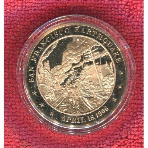 1906 SAN FRANCISCO EARTHQUAKE PURE BRONZE MEDAL COIN