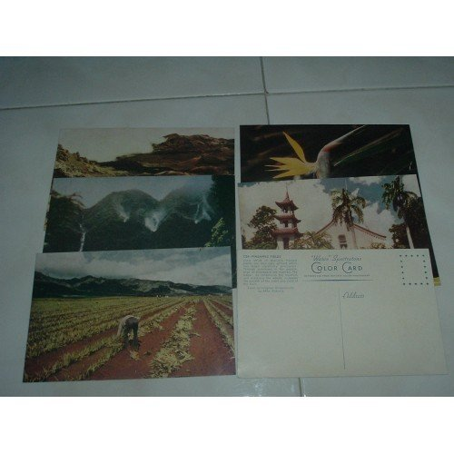 Six WWII Vintage Spectratone Color Nonposted Post Cards - Rare!