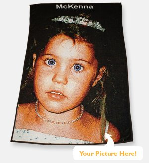 30x58 PERSONALIZED Color PHOTO Throw Blanket  Made in USA