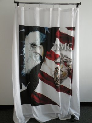 Custom SHOWER CURTAIN with YOUR Photo Picture Bathroom decor