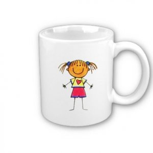Custom Coffee Mugs Cups with YOUR Child's Artwork